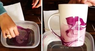 La tecnica semplice e veloce per decorare le tazze con gli smalti per le unghie