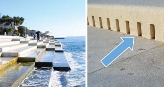 Queste scale nascondono un organo che produce una musica ogni volta che viene colpito dalle onde del mare