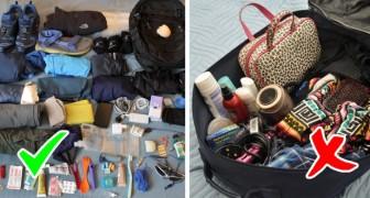 10 dritte per preparare il bagaglio con intelligenza evitando fastidiosi inconvenienti