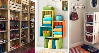 12 idee coloratissime per arredare qualsiasi stanza di casa riciclando le cassette di legno