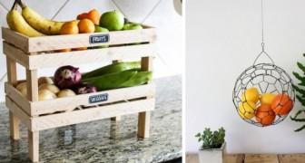 9 trovate brillanti per riporre con ordine frutta e verdura in cucina