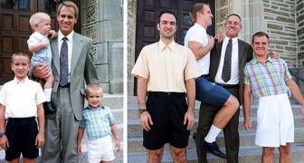 Verleden vs. heden: 14 mensen die met hilarische precisie kinderfoto's hebben nagemaakt