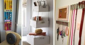 12 trovate brillanti per fare ordine in casa riciclando oggetti comuni