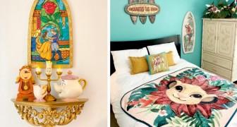 Una coppia ha arredato tutte le stanze di casa a tema Disney: gli interni sembrano usciti dalle famose fiabe
