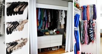 11 trucchi utilissimi per organizzare al meglio il vostro guardaroba