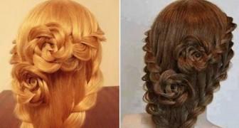 Il metodo facile e veloce per acconciare i capelli in una bellissima treccia con rose