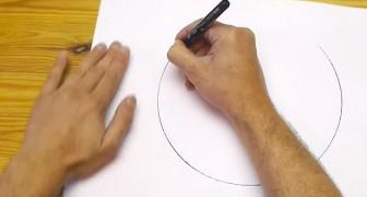 Regardez comment il est possible de dessiner un cercle parfait à mains-libres