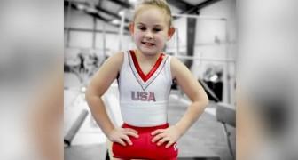 Nacida sin piernas, con sus 8 años es un talento de la gimnasia artística y una inspiración para todos