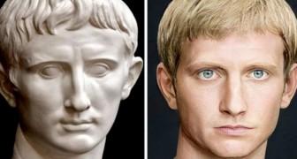 Romeinse keizers zoals je ze nog nooit hebt gezien: een student maakt de gezichten van deze historische figuren na