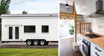 Dieses Haus auf Rädern hat 4 Zimmer und kann leicht transportiert werden: innen ist eine richtige Wohnung