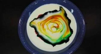 Leite, colorante alimentar e detergente líquido: veja o que acontece com esta combinação!