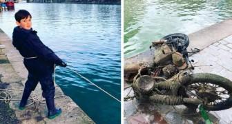 Ce garçon de 10 ans nettoie la Seine : avec des aimants, il a déjà sorti 7 tonnes de déchets