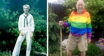 Vid 90-års ålder bestämmer sig en man för att komma ut med ett inlägg på Facebook: Nu är jag fri