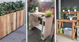 10 meubles de jardin pratiques et ingénieux à réaliser en recyclant les palettes en bois