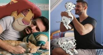 Un homme crée de sympathiques photomontages où il se retrouve avec les personnages Disney les plus aimés