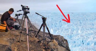 This is the most terrifying glacier calving caught on camera in Greenland !