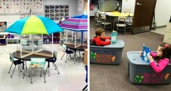 Abstände in der Schule: 10 Lehrer machten ihren Klassenraum für ihre Schüler komfortabler