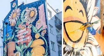 Questo murales ecologico è stato realizzato con una vernice che mangia lo smog e ripulisce l'aria