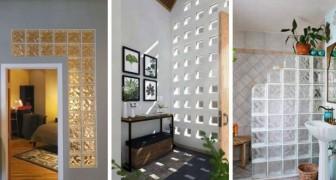 11 proposte creative per arredare con il vetrocemento e portare luce nelle stanze di casa