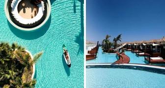 À Crète il existe une station balnéaire avec des logements au bord de l'eau qui ressemblent à ceux d'une île tropicale, mais beaucoup moins chers