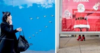Un fotografo ha catturato tutte le contraddizioni della società moderna con degli scatti giocosi ed originali