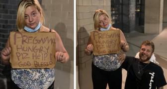 Um casal decide ajudar uma mulher grávida e desempregada: ela não consegue conter as lágrimas