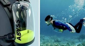 Exolung, das Tauch-Atemschutzgerät, das unbegrenzten Sauerstoff für diejenigen liefert, die das Tauchen lieben