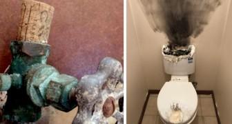 Ein Klempner postete Fotos der absurdesten Hauskatastrophen, deren Zeuge er wurde