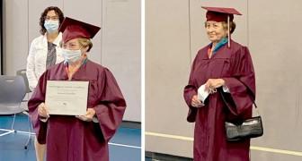 Sopravvissuta all'Olocausto, ottiene il diploma di scuola superiore all'età di 88 anni