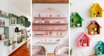 10 splendide soluzioni per realizzare mensole fai-da-te dal design originale e affascinante