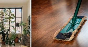 I metodi semplici e casalinghi per pulire le macchie lasciate dai vasi sul pavimento