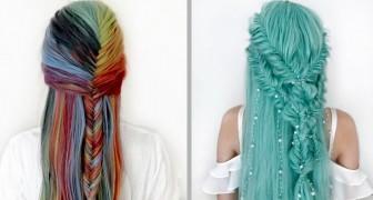 Aos 17 anos, ela cria penteados femininos com visual de conto de fadas: eles mais parecem os de uma princesa da Disney