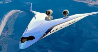 Questo modello di aereo ha una forma a V e consuma il 20% in meno di carburante rispetto agli altri velivoli