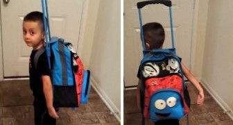 Die Mutter bestraft ihn: Er füllt seinen Rucksack mit Spielzeug und beschließt, von zu Hause fortzugehen