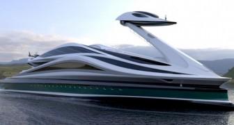 Un designer italiano ha progettato uno yacht di lusso che ricorda la sagoma di un elegantissimo cigno