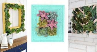 11 trovate irresistibili per creare un quadro di piante succulente e decorare con la natura