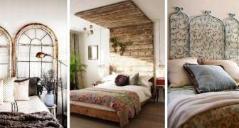 12 deliziose soluzioni fai-da-te per realizzare testiere del letto con elementi naturali e di riciclo