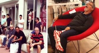 15 urkomische Fotos zeigen, was es für einen Mann bedeutet, darauf zu warten, dass seine Frau mit dem Einkaufen fertig ist
