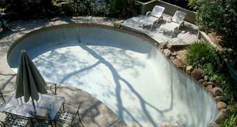 Compra una vecchia casa per pochi soldi e poi scopre che ha una grande piscina nascosta in giardino
