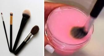 Il metodo semplice e fai-da-te per pulire i pennelli da trucco
