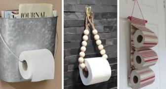 12 projets DIY simples mais sympas pour réaliser des porte papiers toilettes