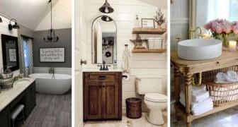 11 spunti incantevoli per arredare il bagno in perfetto stile country moderno