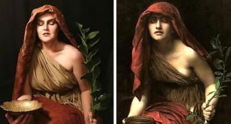Questa ragazza interpreta le donne dei dipinti più famosi: i suoi selfie sono affascinanti viaggi nel tempo