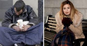 Een dakloze man geeft zijn laatste geld aan een meisje in moeilijkheden: ze zamelt 42.000 pond in om hem een huis te geven