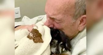 Ein alter Mann stirbt kurz nach dem krankheitsbedingten Tod seines treuen Hündchens an gebrochenem Herzen