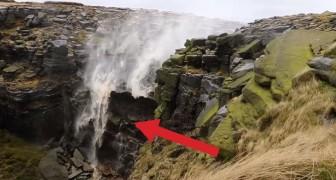 La cascada que fluye AL CONTRARIO: este es el curioso video filmado sobre las colinas inglesas