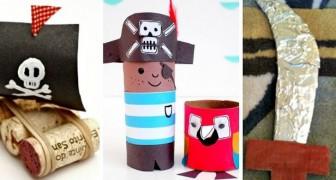 11 strepitosi lavoretti fai-da-te a tema pirati ideali per far divertire i bambini con creatività
