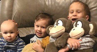 Drie broertjes worden ziek met dezelfde kanker aan de ogen: ze vechten samen en geven elkaar kracht