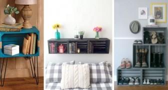 10 trovate brillanti per arredare la camera da letto riciclando le cassette di legno