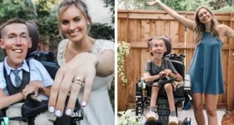 Han är handikappad, hon inte, de gifter sig trots alla fördomar och visar att kärleken övervinner allt